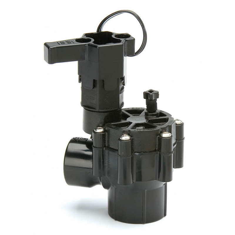 100-DV-A 1 in. Threaded Plastic Angle Valve with Out Flow Control