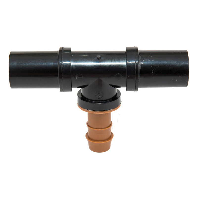 Compression Insert Tee for .710 Inch Dripline