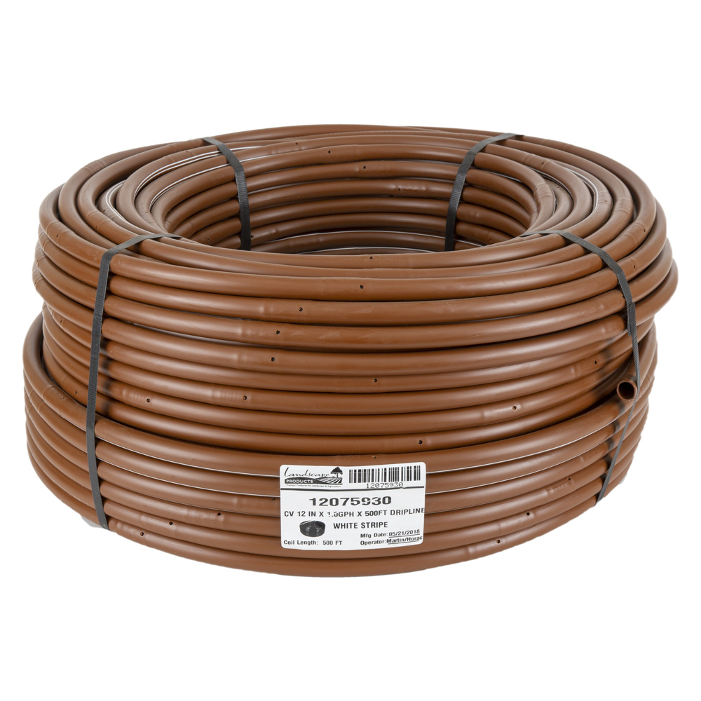 EZ-ID-CV 17MM Dripline - 1GPH Emitters 500 Foot Roll x 12-inch Spacing