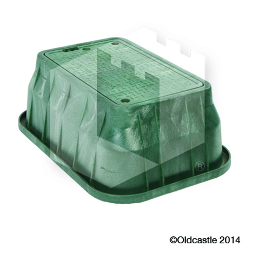 1324 Carson 12-inch Green Box and Lid