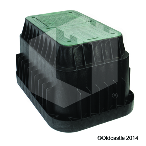1730 Carson 12 Inch Green Box and Lid