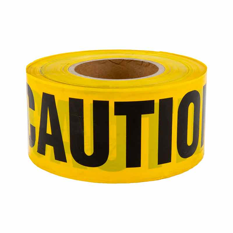 4 Mil 3-inch Caution Tape - 1,000-foot Roll