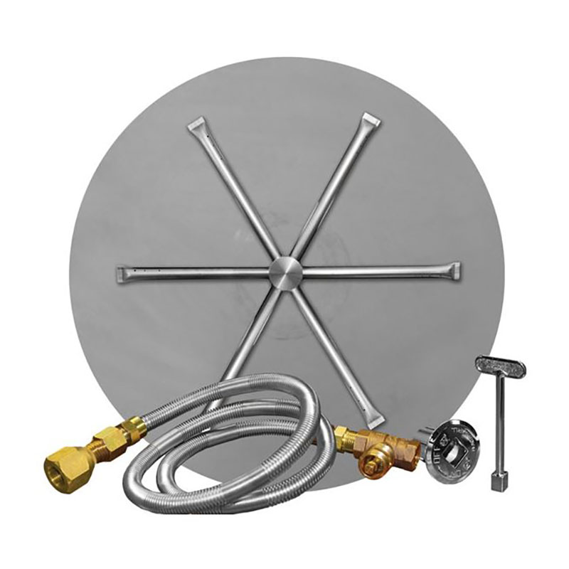 "34"" Round Stainless Steel MT Ignition System"