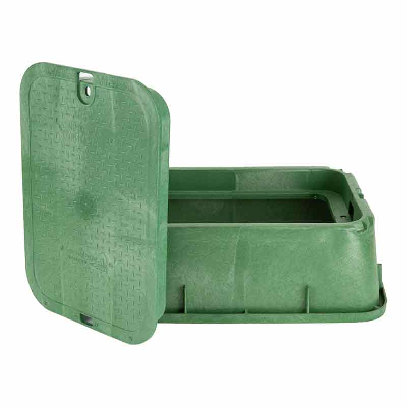 14 x 19-inch Green Tapered Valve Box with Lid