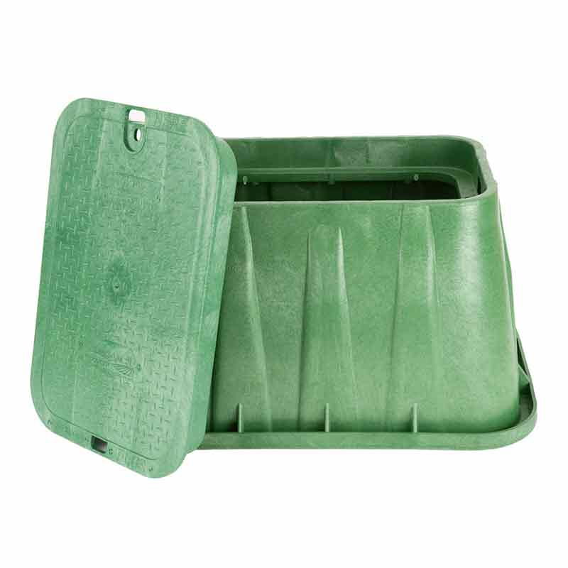14 x 19-inch Green Valve Box with Lid
