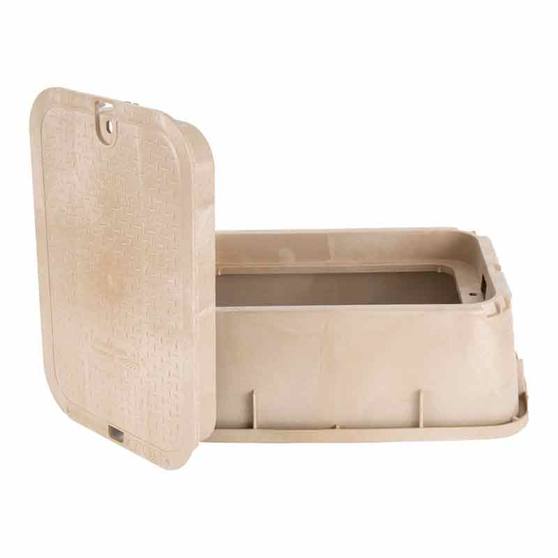 14 x 19-inch Sand Tapered Valve Box with Lid