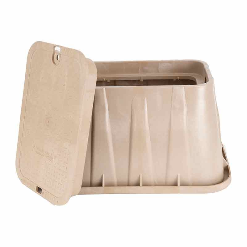 14 x 19-inch Valve Box with Lid - Sand