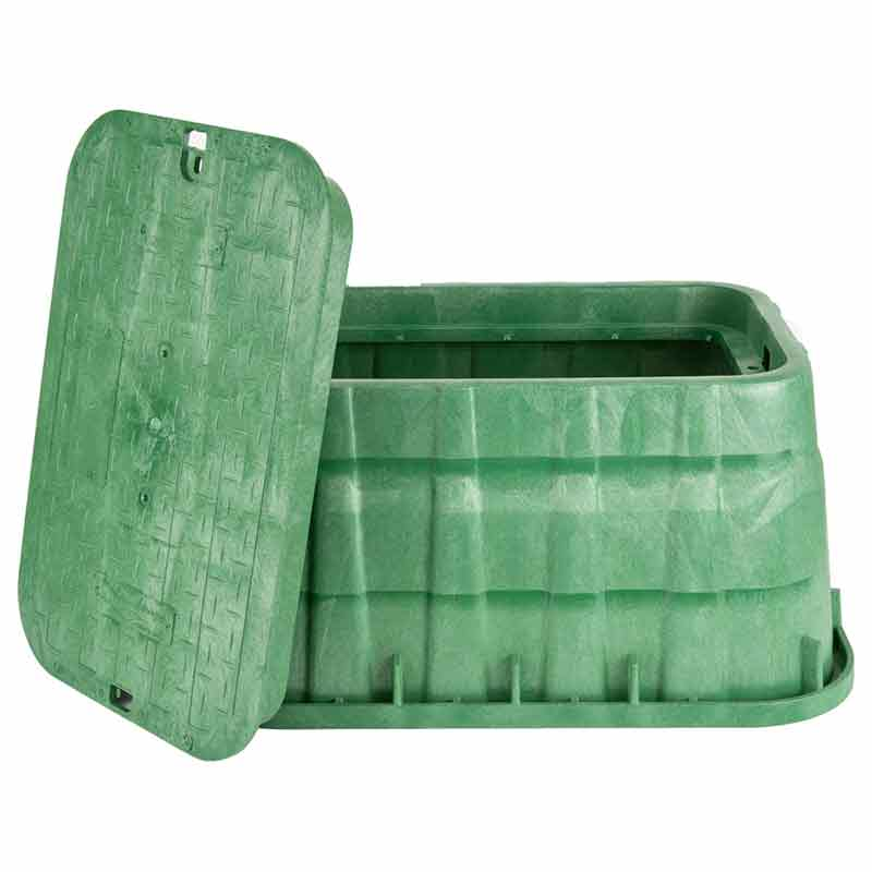 13 x 20-inch Green Jumbo Valve Box with Lid