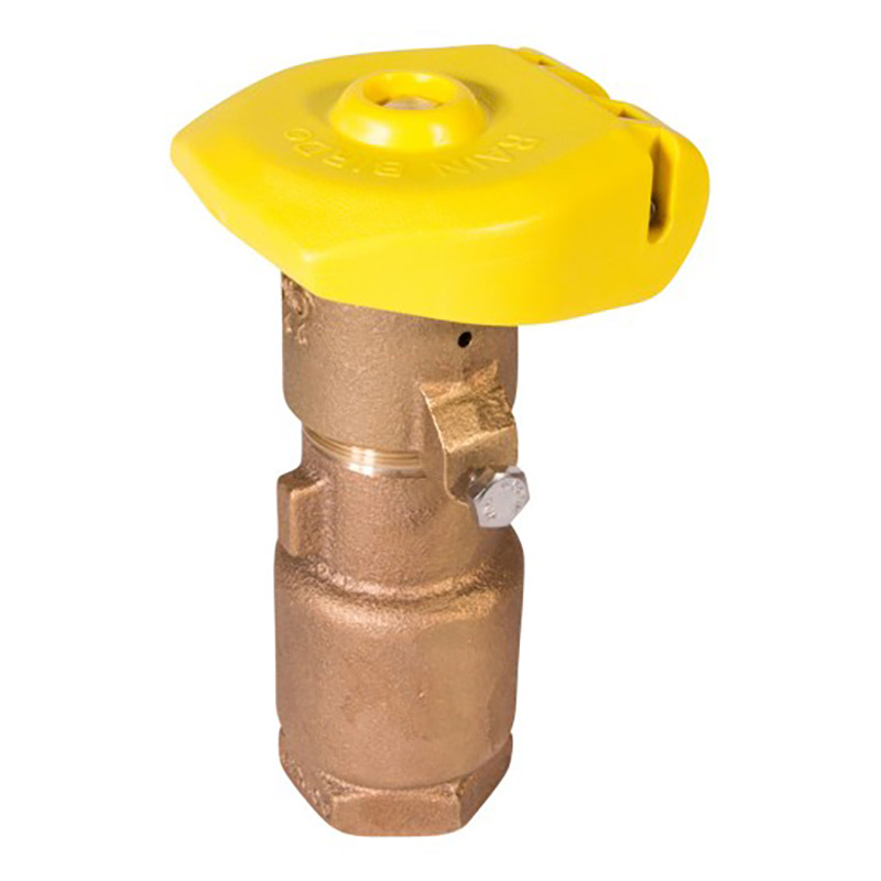 1 in. 2-Piece Quick Coupler Valve with Locking Rubber Cap
