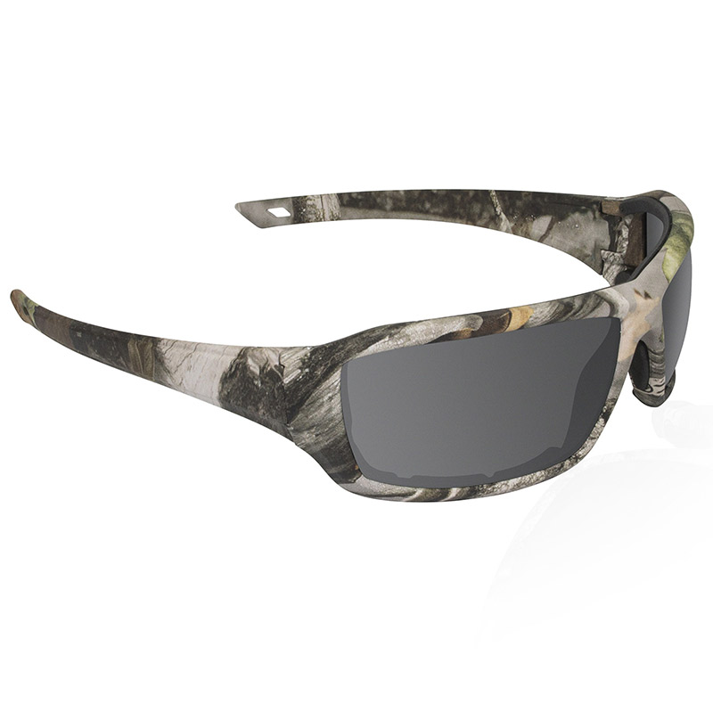 Dry Forest Camo Safety Glasses - Smoke