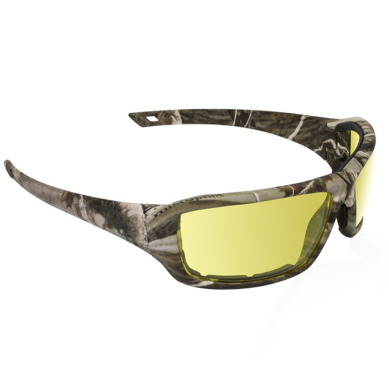 Dry Forest Camo Safety Glasses - Yellow