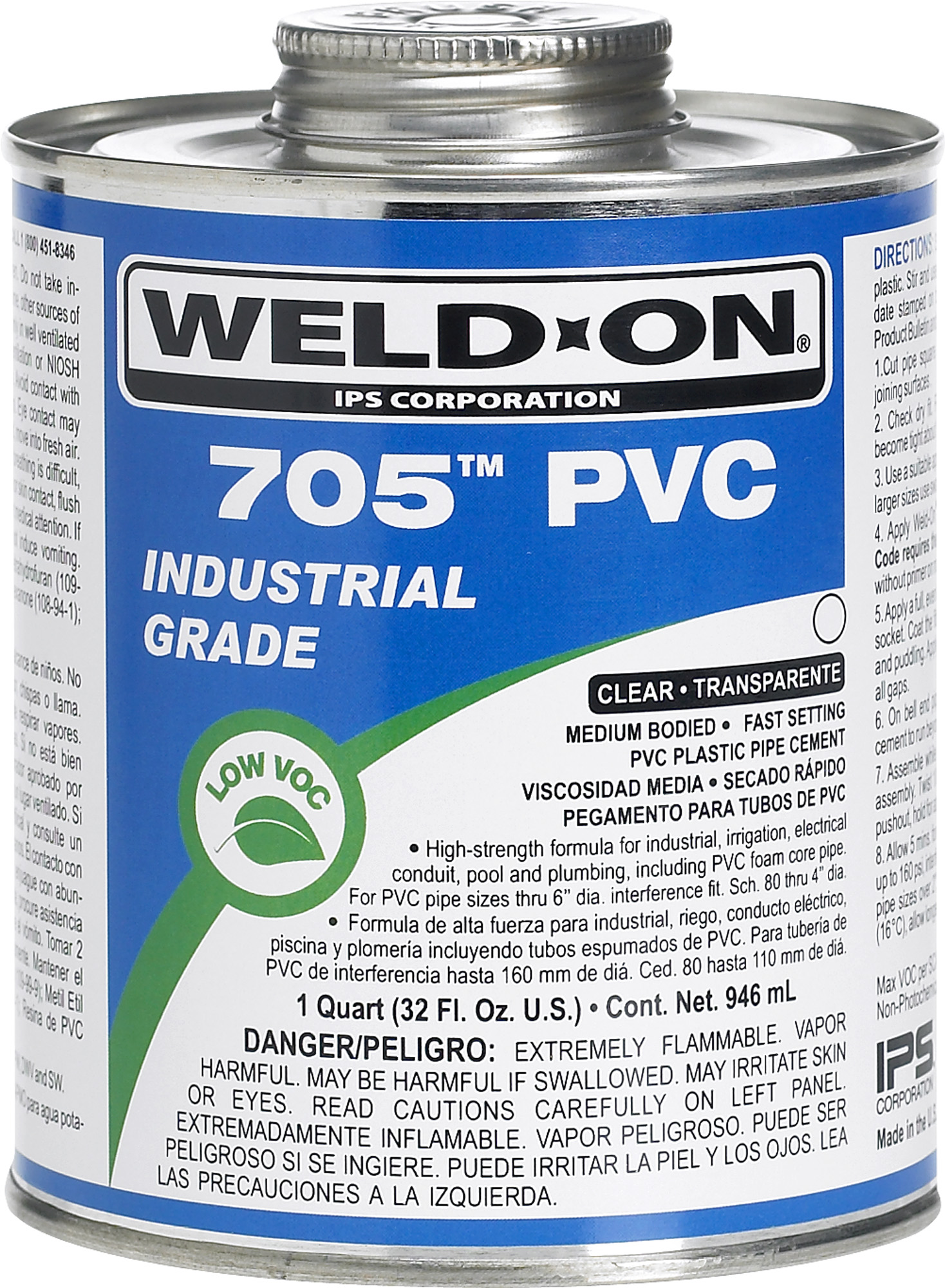705 Clear PVC Cement with Brush - 1/4 pint