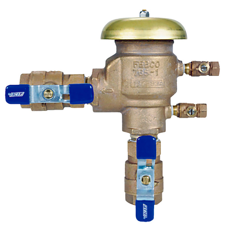 3/4-inch 765 Series Pressure Vacuum Breaker with Union Ball Valves