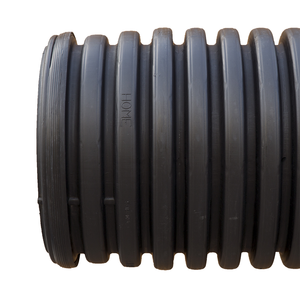 4-inch  x 20-foot Corrugated N-12 Pipe