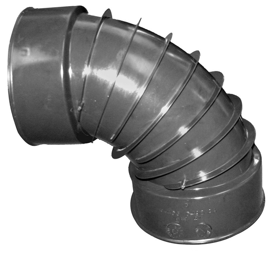 4-inch 490 Flexdrain Corrugated Snap 90 degree Elbow