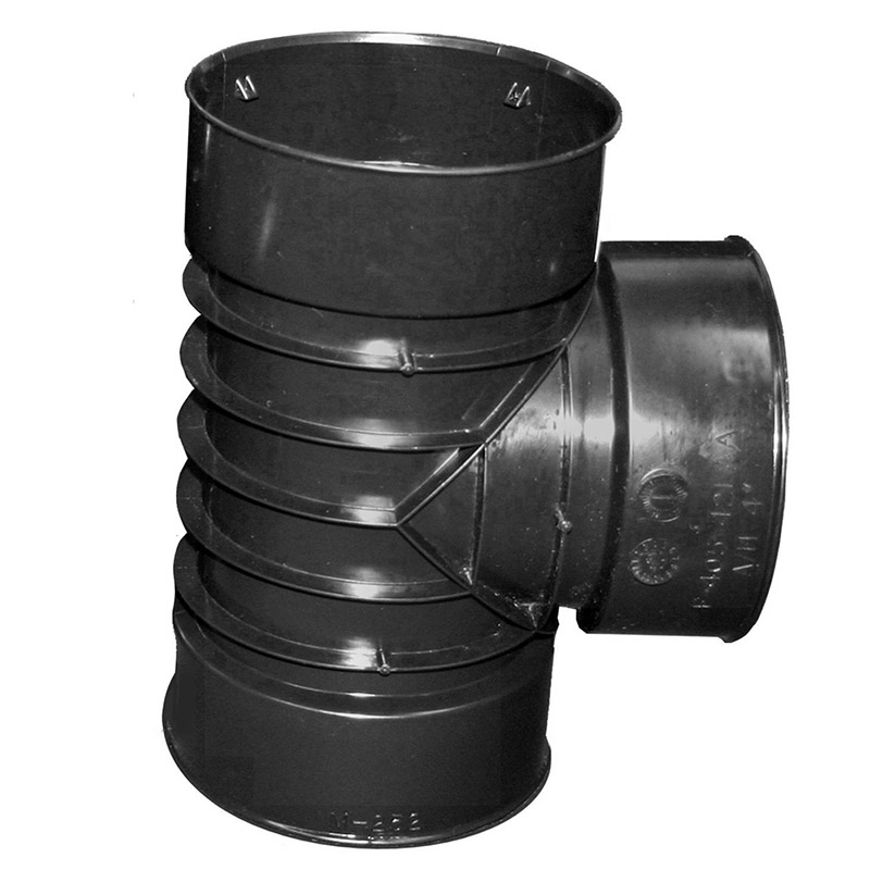 4-inch 421 Flexdrain Corrugated Snap Tee