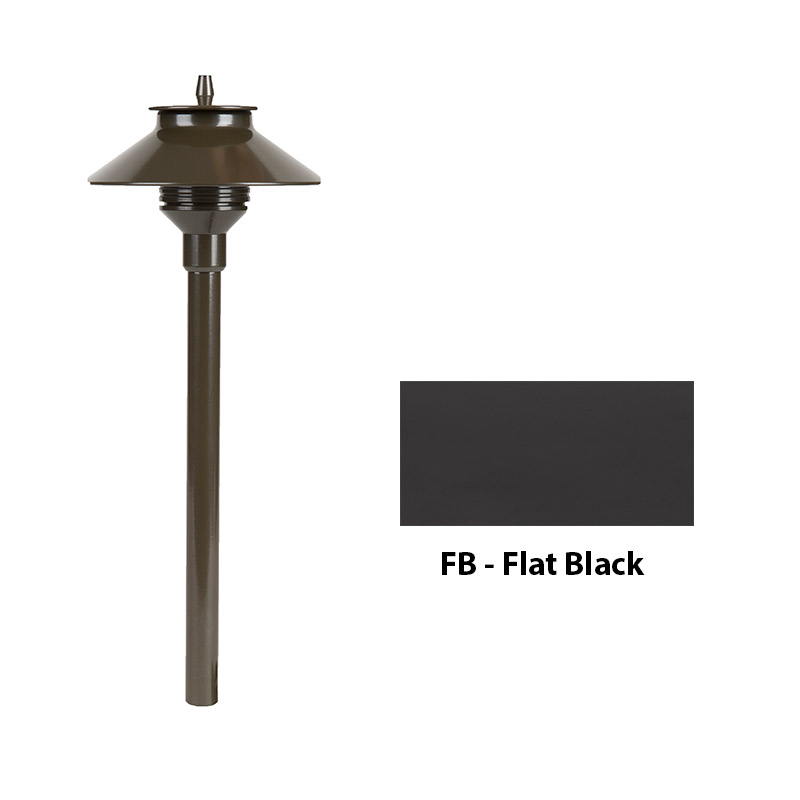 Aluminum Zoning and Dimmable Plus Color 24 Inch Riser In Flat Black