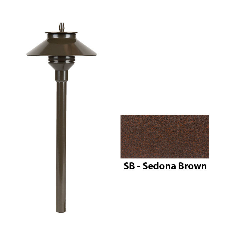 Aluminum Zoning and Dimmable Plus Color 18 Inch Riser In Sedona Brown
