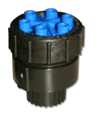 Ml-210 1 GPH 6 Outlet Blue 1/2-inch FPT Cap Emitter