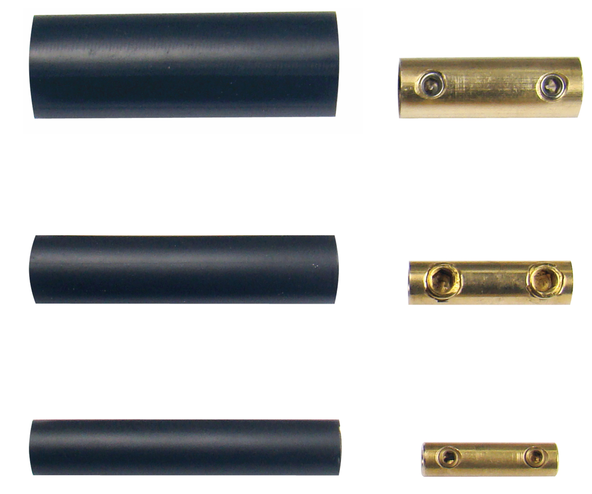 BSC Small Brass Barrel Wire Connector 2-pack