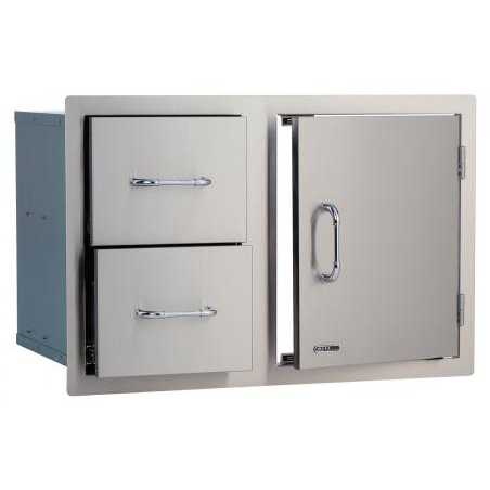 Stainless Steel Door and Drawer Combo