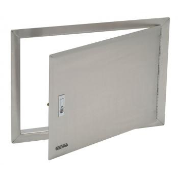 Stainless Steel Horizontal Access Door with Lock