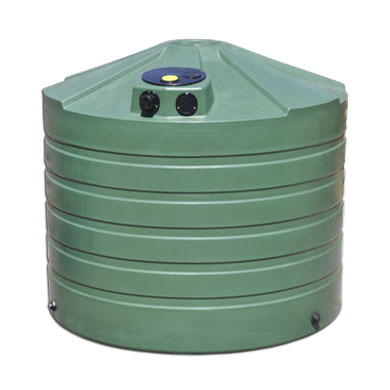 1320 Gallon Green Round Rain Harvesting Tank