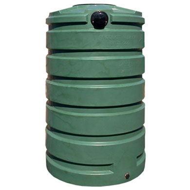 205 Gallon Green Round Rain Harvesting Tank