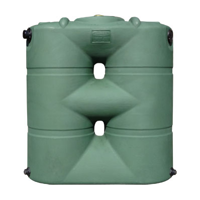 265 Gallon Green Slimline Rain Harvesting Tank
