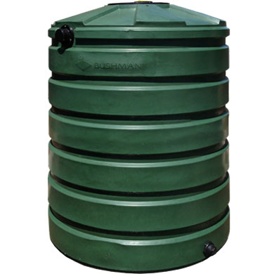 420 Gallon Green Round Rain Harvesting Tank