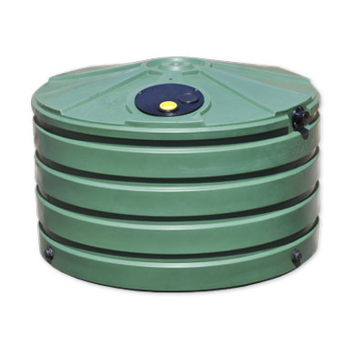 660 Gallon Green Round Rain Harvesting Tank