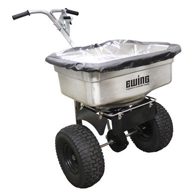 Stainless Steel 100 lb. Ice Melt Spreader