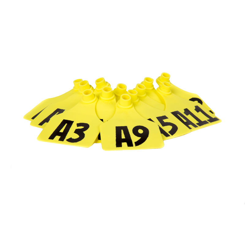 A1-A12 Standard Yellow Valve ID Tags