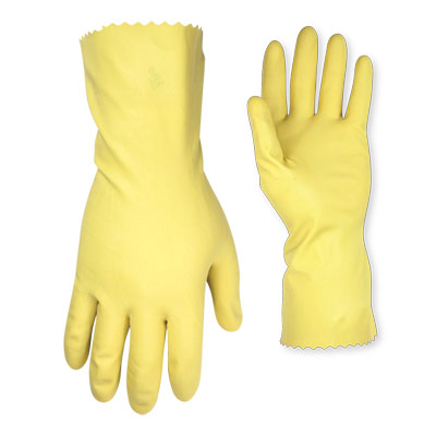 Large Unlined Latex Gloves
