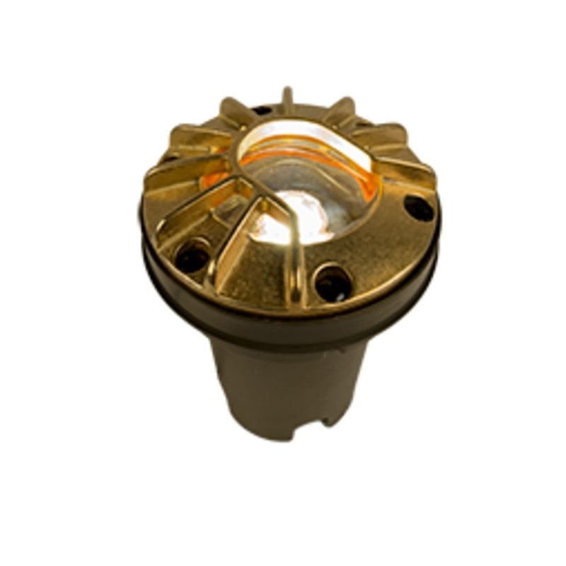 FC-LV Zoning and Dimmable Plus Color Well Light In Natural Brass
