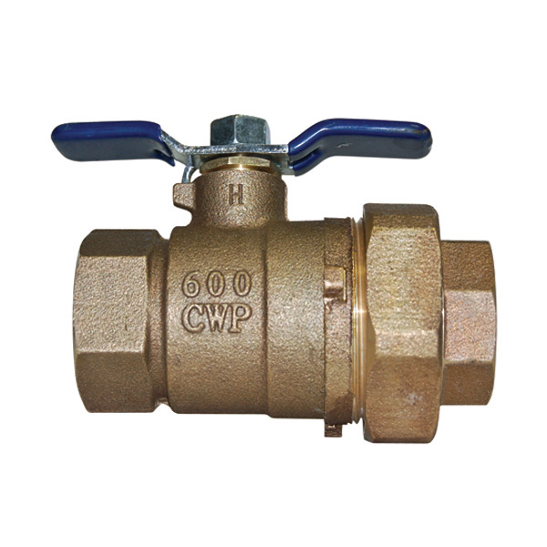 3/4 Inch Union Ball Valve With No Tap
