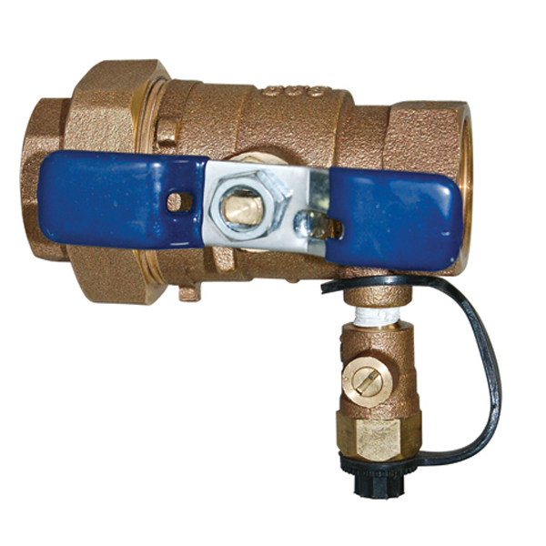 1-1/2 Inch Union Ball Valve With Tap