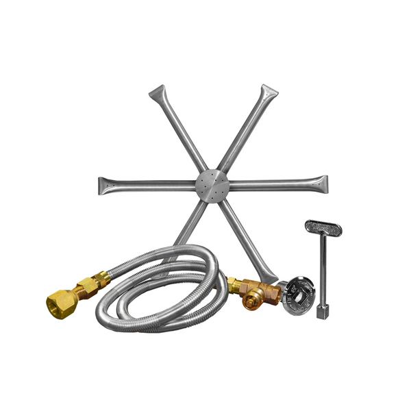 16 Inch Stainless Steel Burning Spur Kit