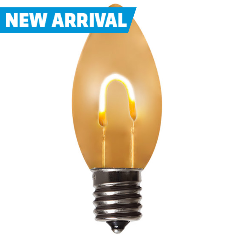 C9 LED Warm White Flexfilament Bulb