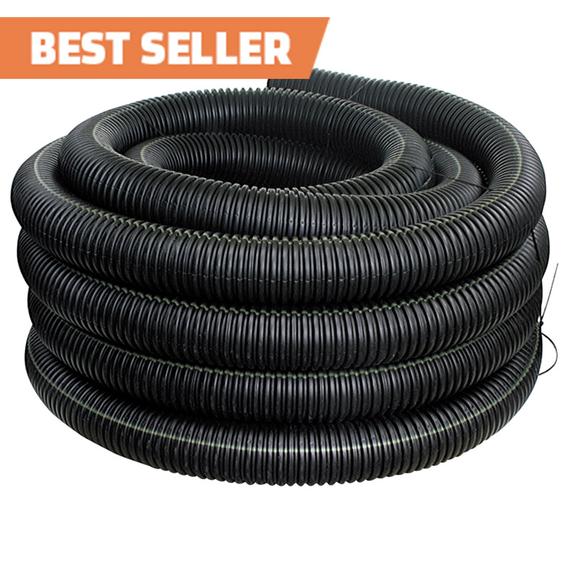 4-inch x 100-foot Flexdrain Corrugated Pipe