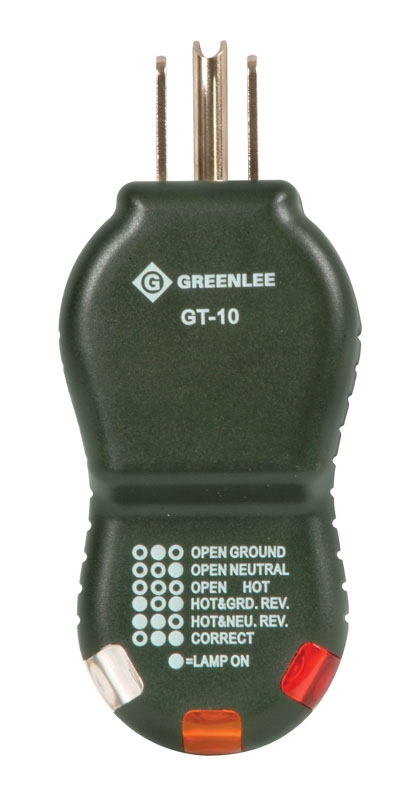 GT-10 Polarity Cube Grounded Outlet Tester