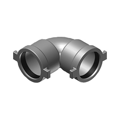 2-1/2 Inch Ductile Iron Push-On 90-Degree Elbow