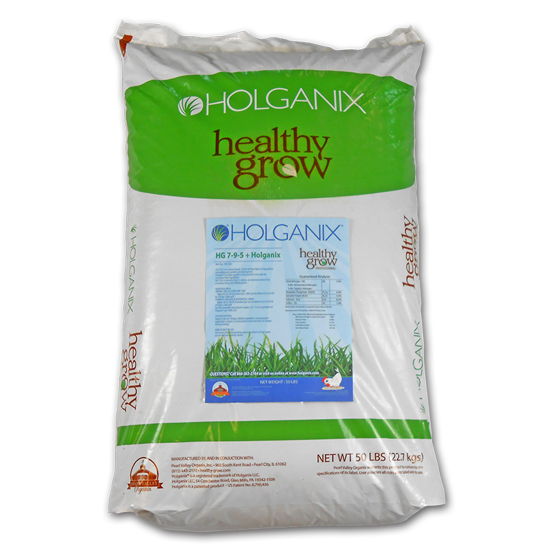 Healthy Grow (HGHx) 2-4-3 Granular Fertilizer infused with Holganix - 50 lb. Bag