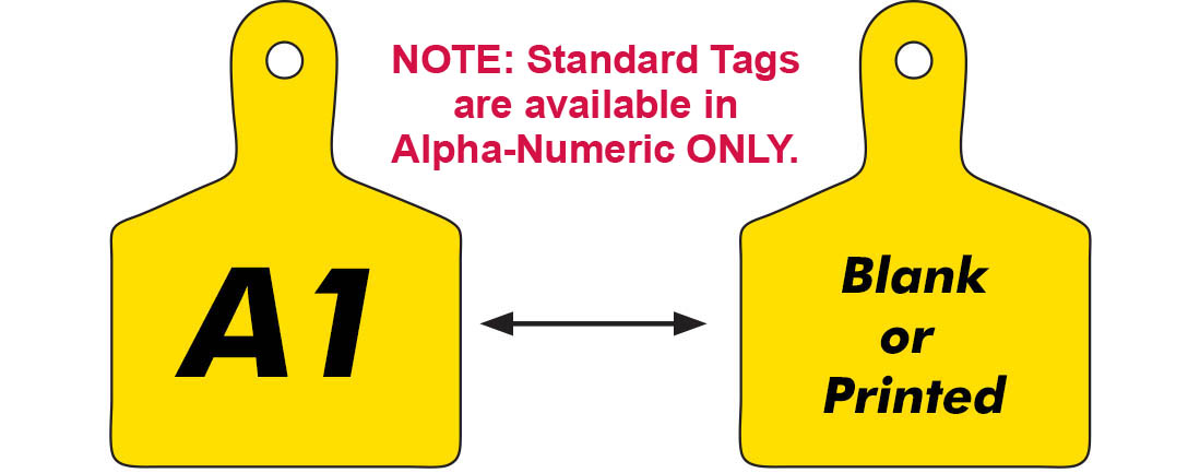 A13-A24 Standard Yellow Valve ID Tags