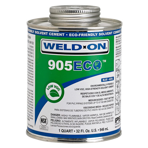 905ECO Blue Eco-Friendly Solvent PVC Cement - Pint