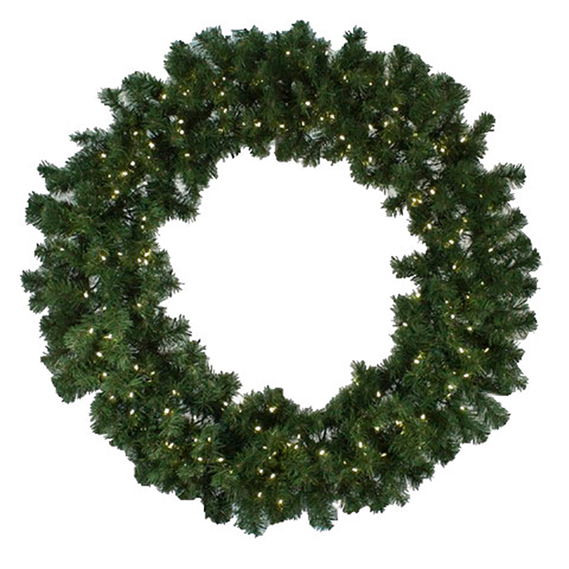72-inch Diameter Pre-Lit LED Wreath