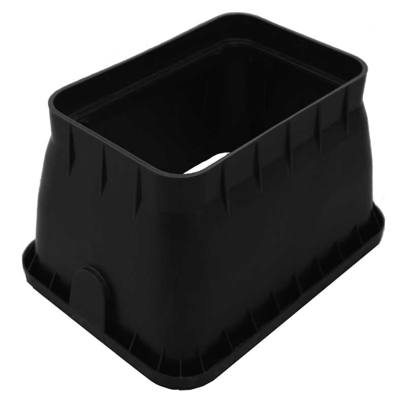 12-inch Rectangle Black Valve Box Only