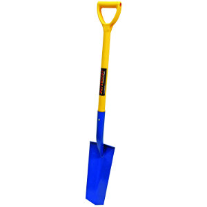 Closed Back Drain Spade with Fiberglass Handle and D-Grip