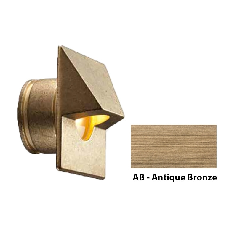 MO Zoning and Dimmable Plus Color Square Wall Light In Antique Bronze