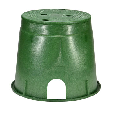 10-inch Green Round Valve Box with Lid